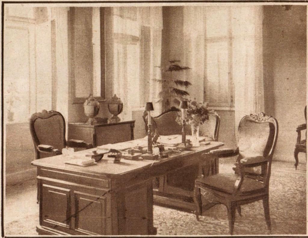 gabinet Marszałka w lipcu 1926 r. źródło: tygodnik Światowid, 1926 r.